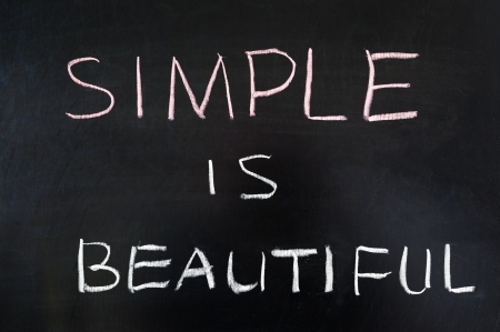 24538140 - simple is beautiful words written on blackboard