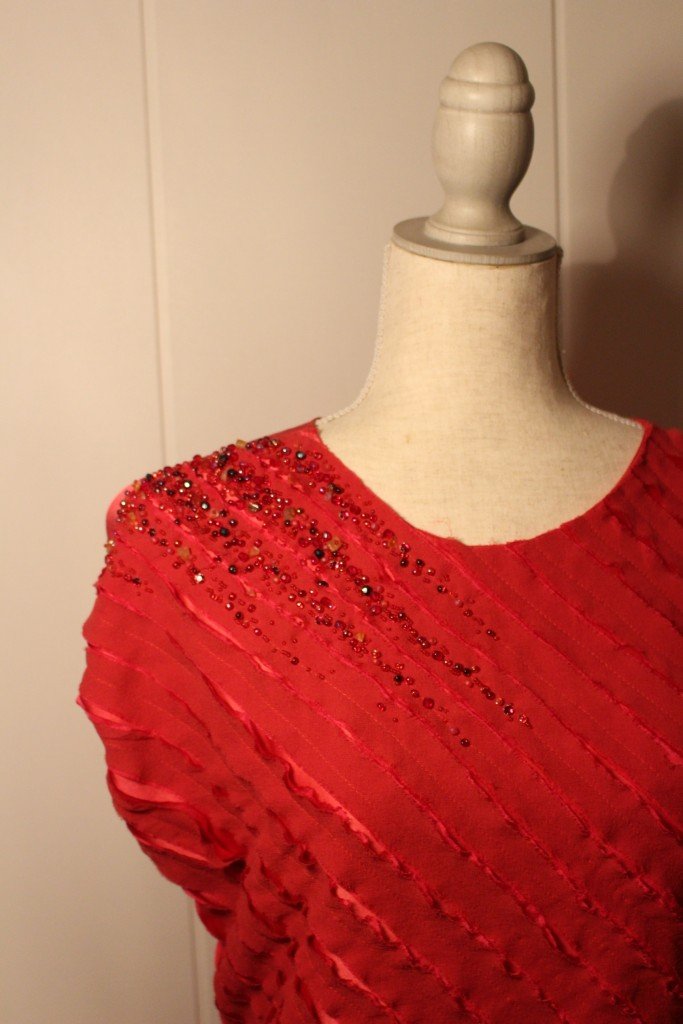 silk dress embellishment hand beaded embroidery