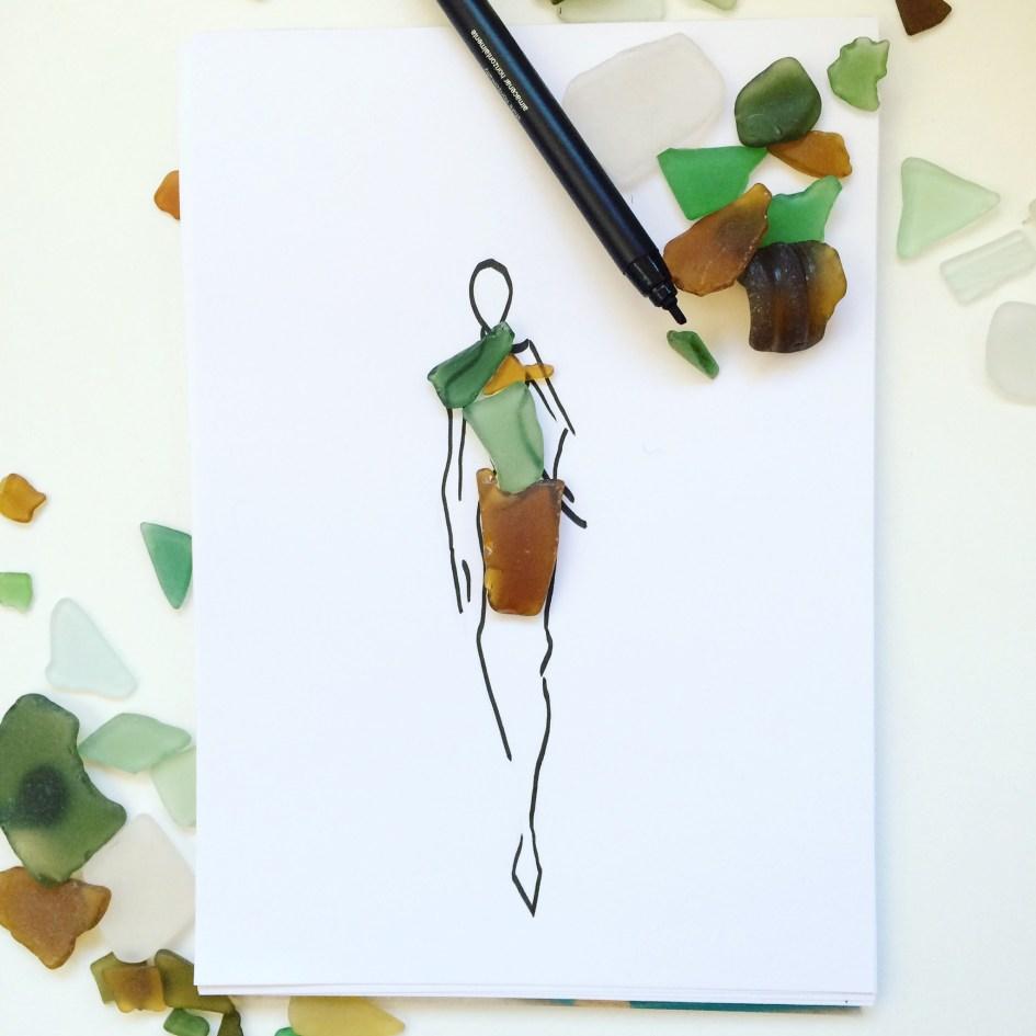seaglass fashion design