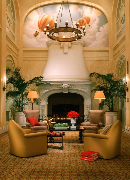 Lobby area in San Francisco's Monaco Hotel
