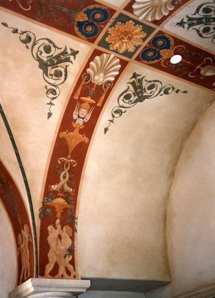 Detail, hallway of a home in Santa Barbara