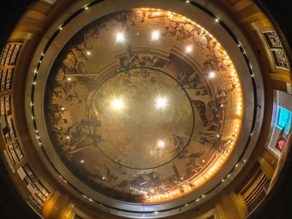 The ceiling of the Hormel Center at San Francisco's Main Library