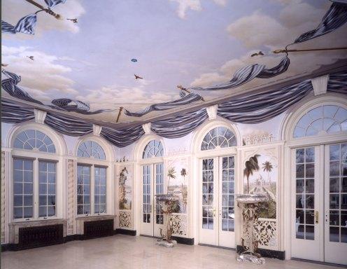 Solarium, private residence | Evans & Brown mural art