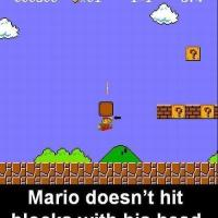 Who knew: Mario hits blocks with hand, not head