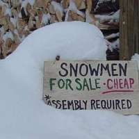 Snowman: for sale *some assembly required