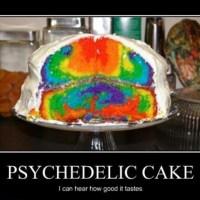 Crazy Rainbow Cake