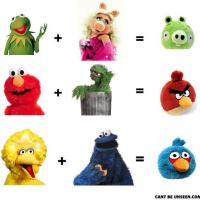 Angry Birds and Sesame Street