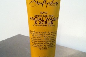 Shea Moisture Raw Shea Butter Facial Wash and Scrub Review
