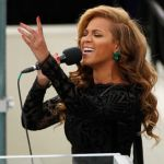 Beyonce does playback on the National Anthem during inauguration ceremonies for U.S. President Obama in Washington