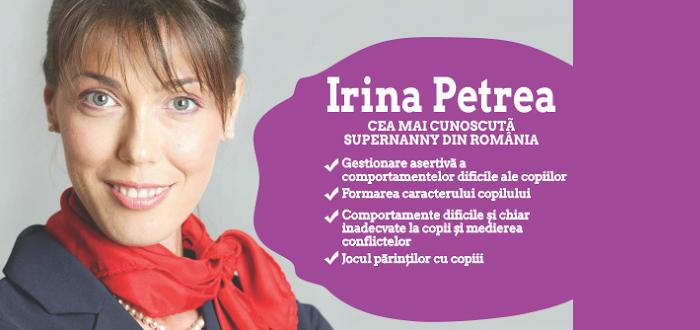 """""""Capcane si provocari ale parintilor"""", cu Super Nanny, Irina Petrea!"""