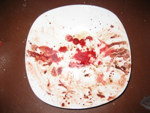 maybe photograph the plate before you eat next time?