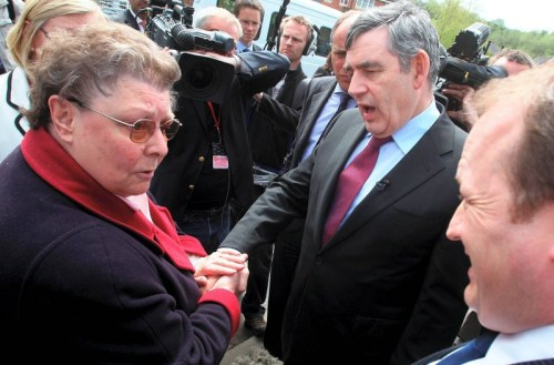 Gordon brown loved talking about Gillian Duffy, the bigoted pensioner from Rochdale
