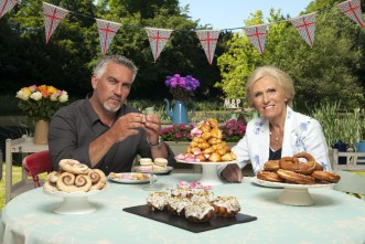 Programme Name: Great British Bake Off - TX: n/a - Episode: n/a (No. n/a) - Embargoed for publication until: 13/08/2013 - Picture Shows: Paul Hollywood, Mary Berry - (C) Love Productions - Photographer: Des Willie