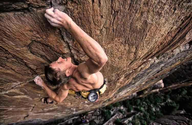 Five weeks after amputation, TC returned to repeat Grand Ol' Opry (5.14b), a route he established prior to cutting off his finger. All photos: Corey Rich