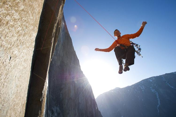 Climbers Tommy Caldwell and Kevin Jorgeson attempt one of the hardest routes in the world on El Capitan in Yosemite National Park.