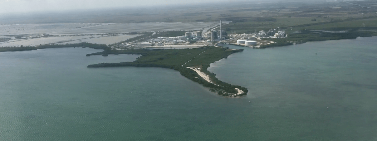 Florida Power & Light's Turkey Point nuclear facility. Photo courtesy of the Southern Alliance for Clean Energy