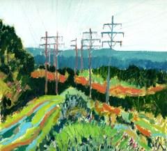 Power Line, Archbald by Earl Lehman