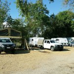 Large, gravelled sites for caravans and motorhomes