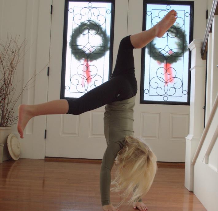 Christmas handstand