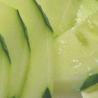 Cucumber Salad w/ Ginger, Toasted Sesame Oil