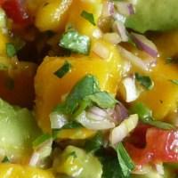 Mango Avocado Salsa with Tostaditas