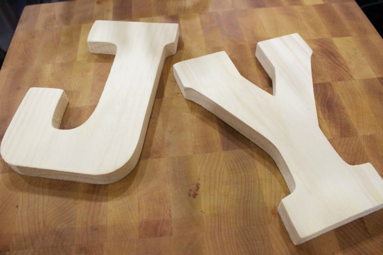 Wood Letters from Hobby Lobby