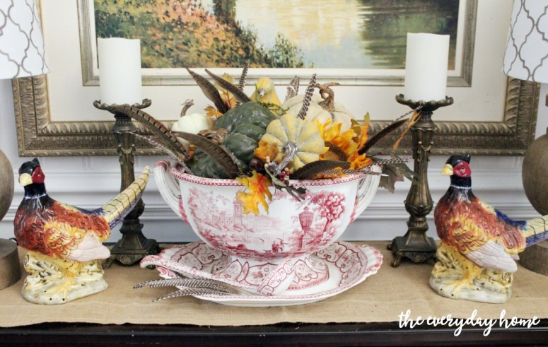 dining-room-buffet-for-fall-vignette | The Everyday Home | www.everydayhomeblog.com