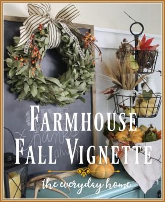 Creating a Cozy Farmhouse Fall Vignette