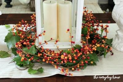 DIY Lantern Berry Wreath