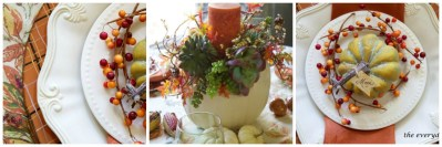 A Fall Tablescape in the Breakfast Room