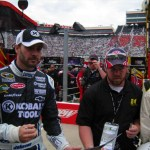 Seth in the pits at Bristol with Jimmie Johnson