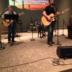 Playing back up for my favorite worship leader