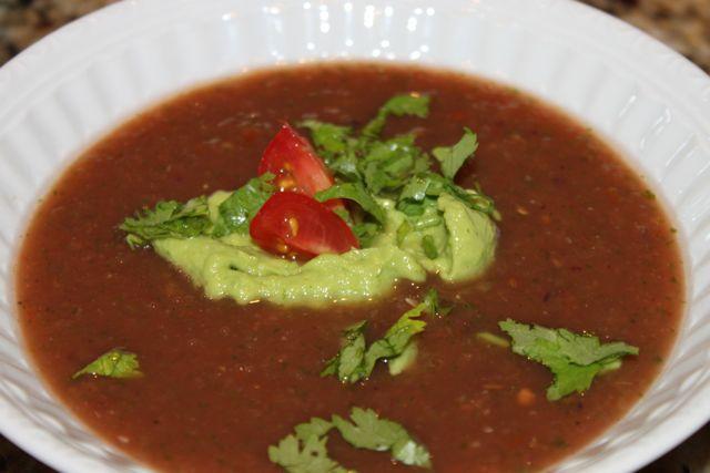 Paleo Avocado Gazpacho with Spiced Croutons