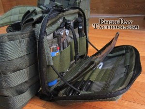Tactical Tailor Admin Pouch Enhanced open on vest