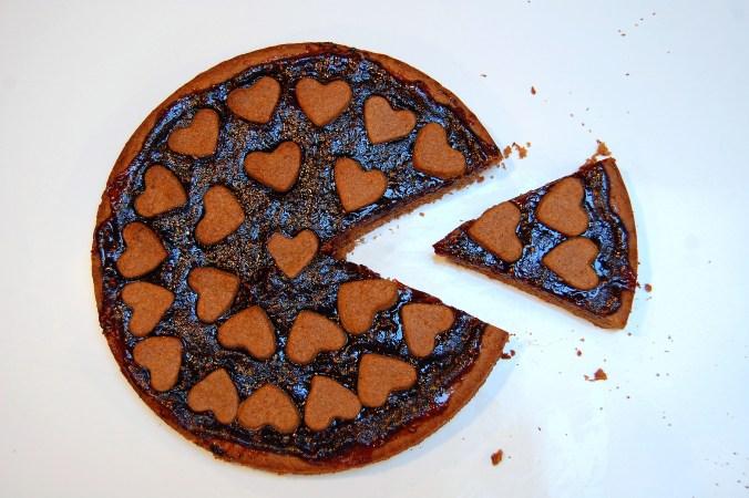 Vegan Linzer Torte with aquafaba