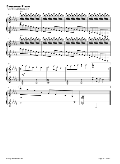 Luv Letter Stave Preview 4- Free Piano Sheet Music & Piano Chords