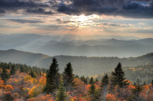 Cowee Mountain Overlook, Blue Ridge Parkway - courtesy Mary Anne Baker