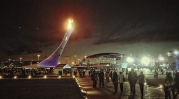 The Olympic Flame rendered no less meaningful - Courtesy Pasha Kovalenko