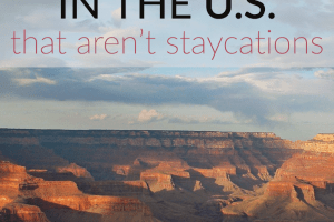 "Tired of the idea of a staycation, but don't have the money for a ""real"" vacation? Take a frugal trip in the US instead! Here are 5 ideas."