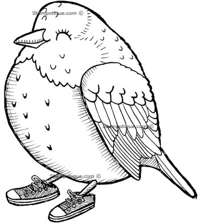 Stampotique Birdy Shoes Stamp