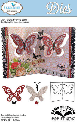 Butterfly Pivot Card Die