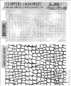 Tim Holtz Stamps Graph & Croc