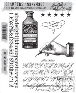 Tim Holtz Stamps Typography