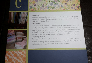 Layout with journaling focus