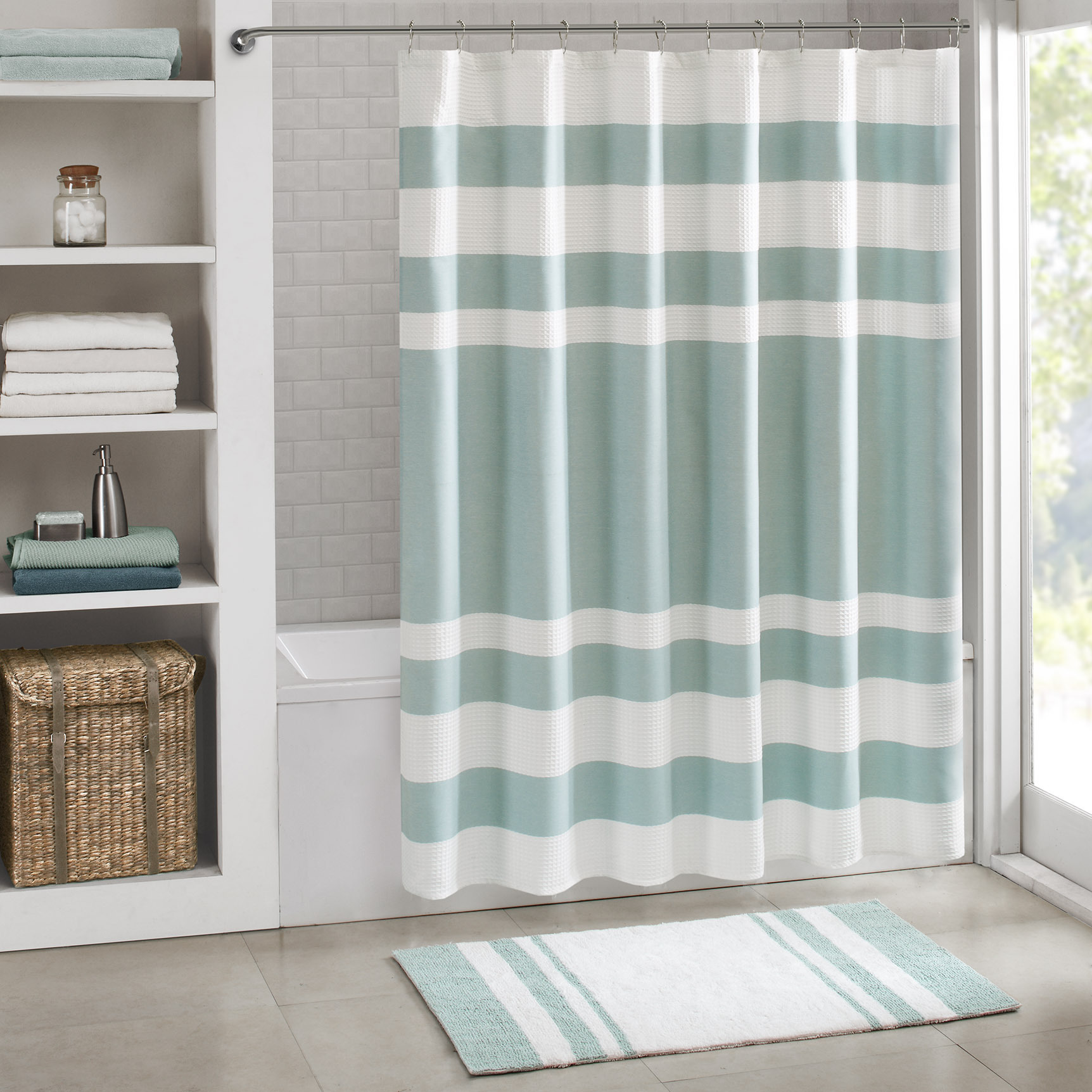 Fullsize Of Green Shower Curtain