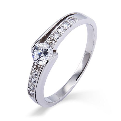 Dazzling Side Accents Fake Engagement Rings Fake Diamond Rings Fake Wedding Rings Fake Wedding Rings Las Vegas Fake Wedding Rings Amazon Petite Cut Cz Promise Ring
