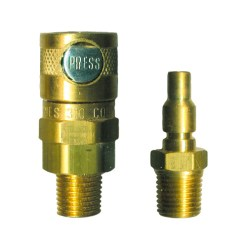 "1/4"" Single Button MALE Coupling & Adapter"