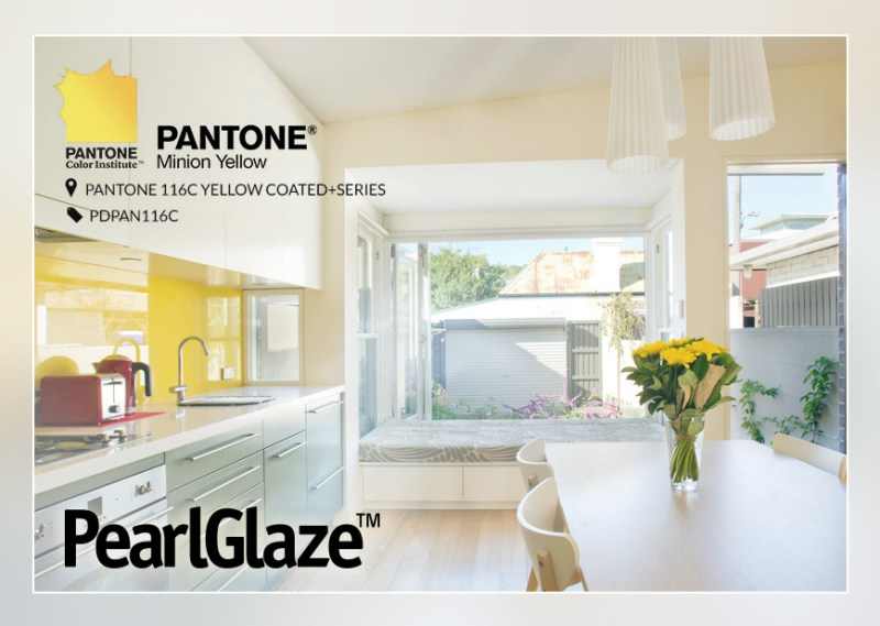 pantone-Minion-Yellow in PearlGlaze