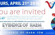 Canadian debut of Evidence of Harm 04-21-2016