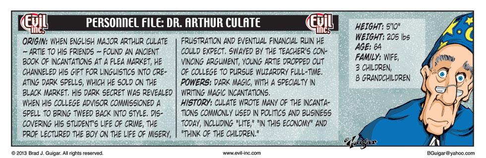 Personnel File: Dr. Arthur Culate